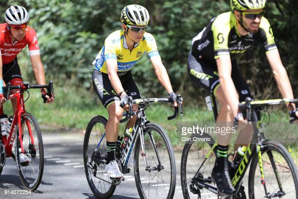 Overall winner Esteban Chaves of Columbia and the MitcheltonScott Team rides in the Jayco Herald Sun Tour stage 4 1521km road race 5 x 311km laps on...