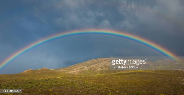 overberg rainbow - overberg stock pictures, royalty-free photos & images
