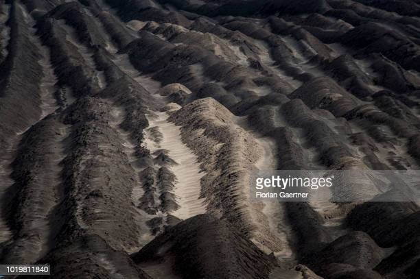 Overburden is pictured at the surface mining on August 15 2018 in Welzow Germany Overburden is the material that lies above the coal seam which has...