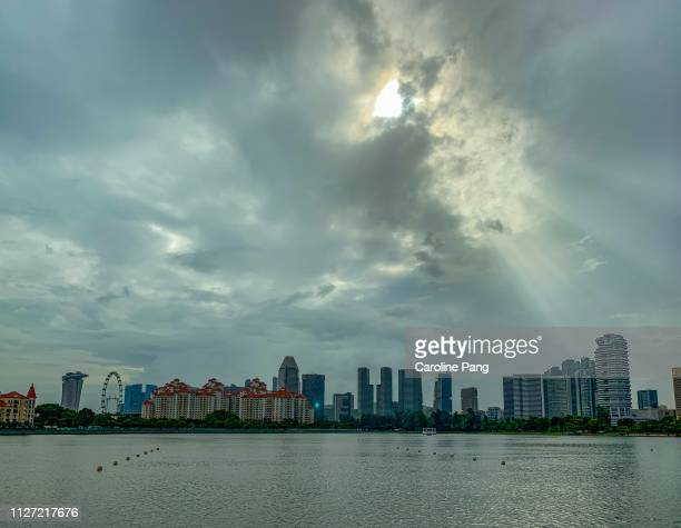 Overcast day in Singapore.