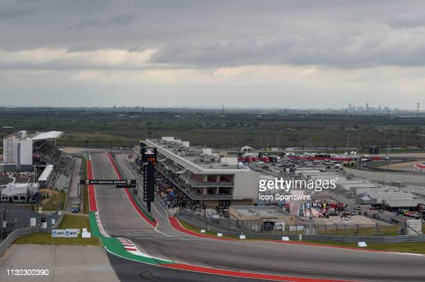 Overcast skies cover COTA before the IndyCar afternoon qualifications at Circuit of the Americas on March 23 2019 in Austin Texas