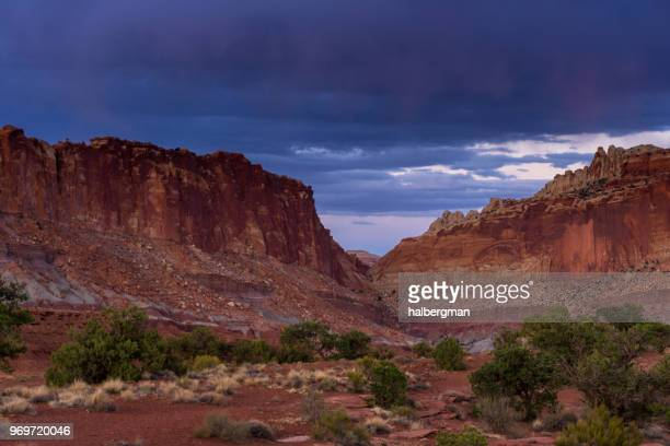 Overcast Sunset in Capitol Reef National Park