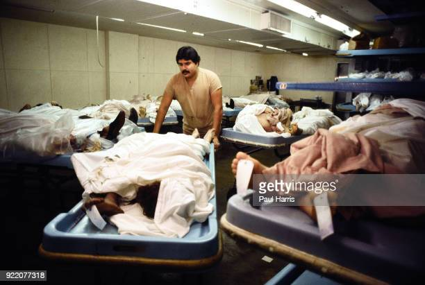 Overcrowding of bodies at the LA County morgue when Dr Thomas Noguchi was the LA Coroner in his 30 years as LA Coroner he examined the corpses of...
