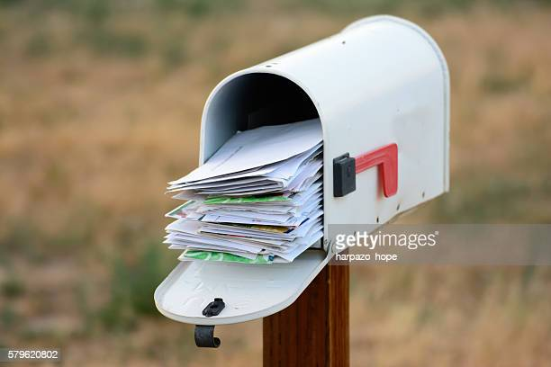 overflowing mailbox - mail stock pictures, royalty-free photos & images