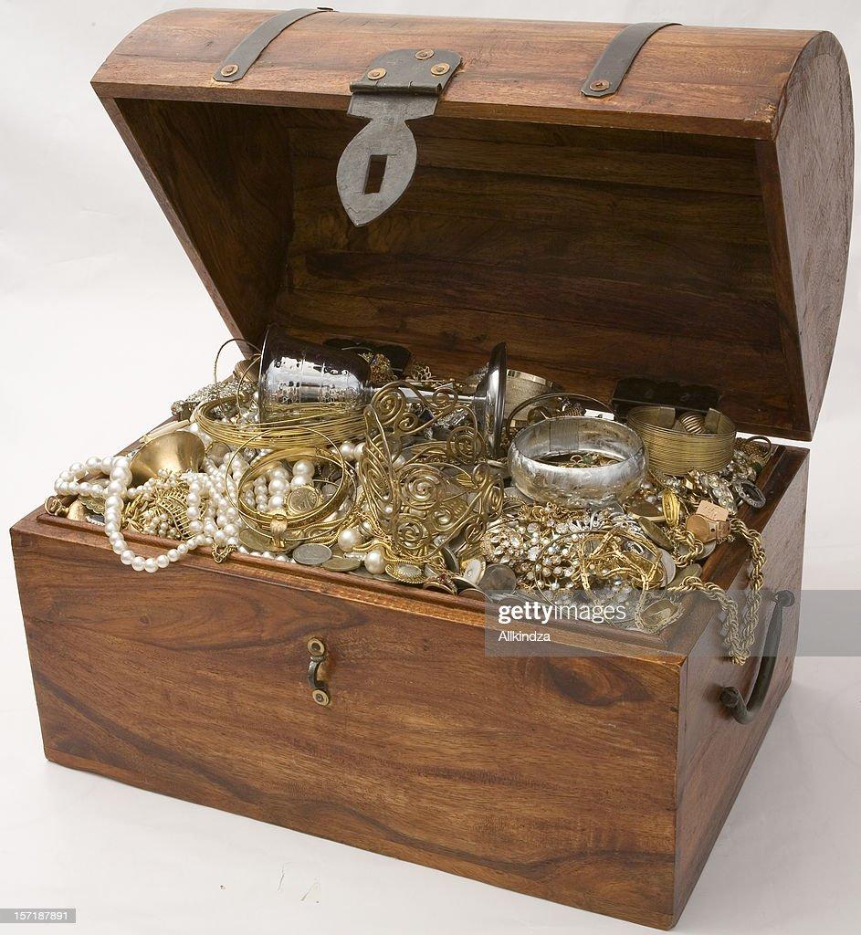 Overflowing Treasure Chest : Stock Photo