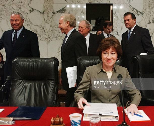 OVERHAULChairman Susan Collins RMaine takes her seat as Secretary of State Colin L Powell ranking Democrat Joseph I Lieberman DConn Sen Carl Levin...