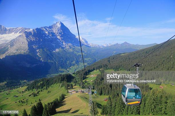 Overhead Cable Car at First, Grindelwald, Switzerland