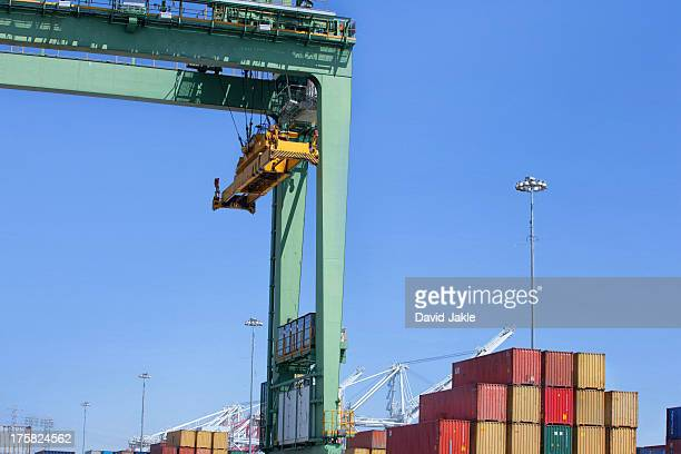 Overhead crane at the Port of Los Angeles, California, USA