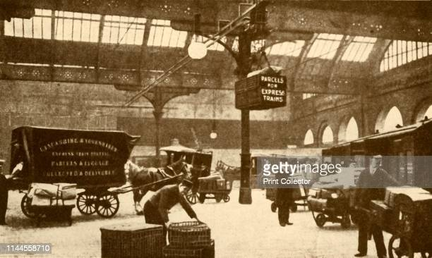 Overhead Electric Parcel Carrier Victoria Station Manchester' 1930 From The Wonder Book of Railways edited by Harry Golding [Ward Lock Co Limited...