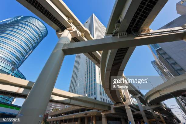 Overhead Expressway Maze in the Ikebukuro Dsitrict of Tokyo, Japan