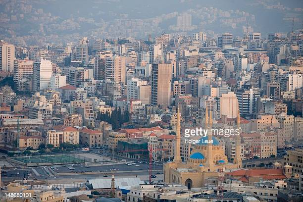 overhead of beirut city. - beirut stock pictures, royalty-free photos & images