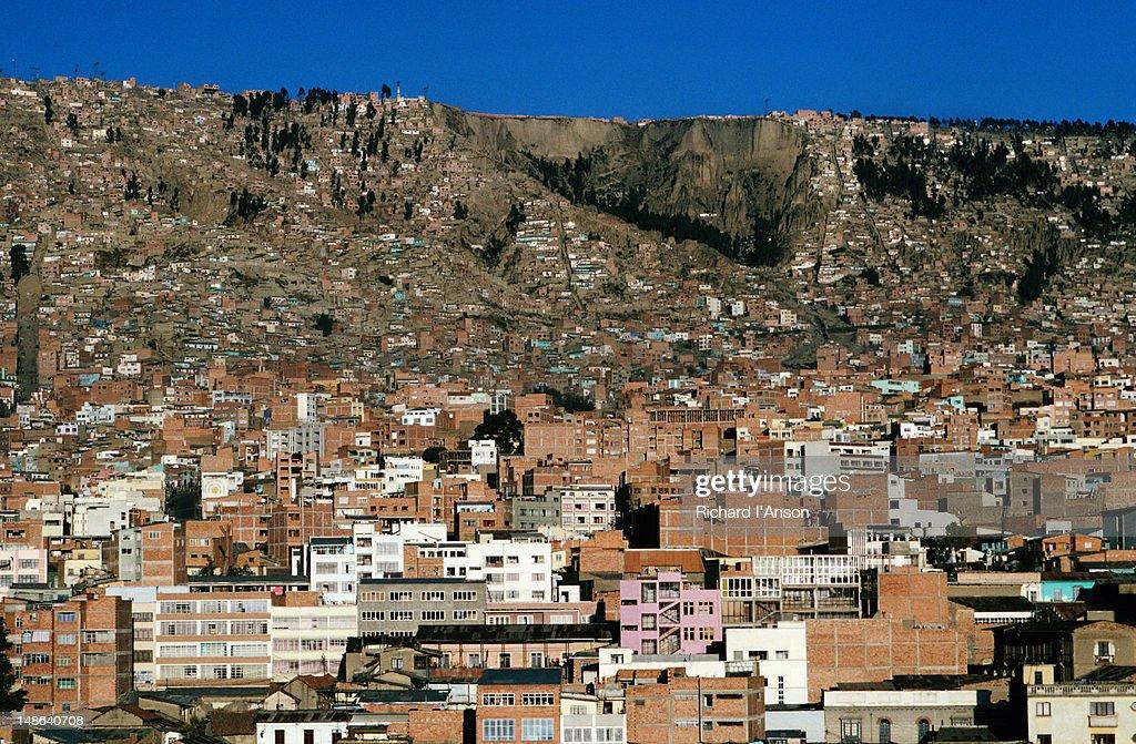 Overhead of city. : Foto de stock