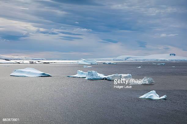 Overhead of icebergs