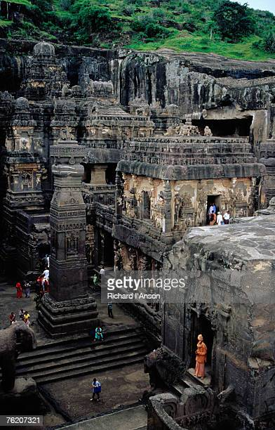 Overhead of Kailasa Temple (Cave 16), Ellora, Maharashtra, India, Indian Sub-Continent