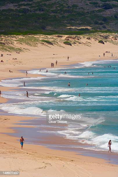 Overhead of people at Cronulla Beach, Sutherland Shire.
