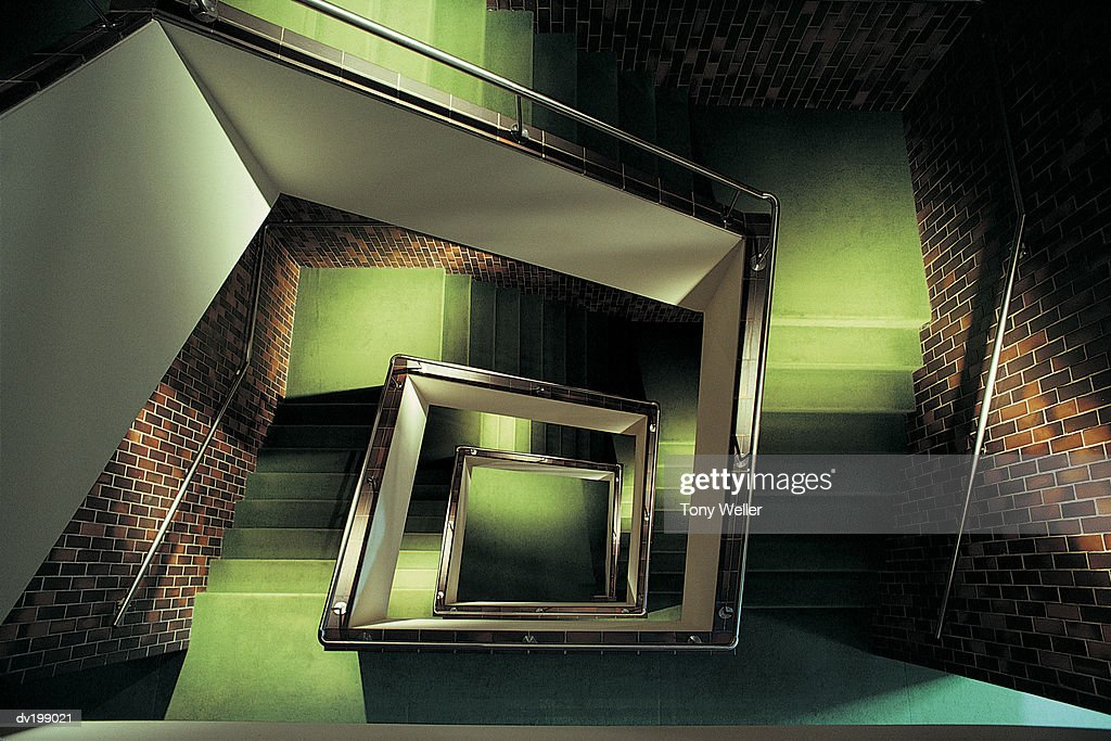 Overhead of stairwell : Stock Photo