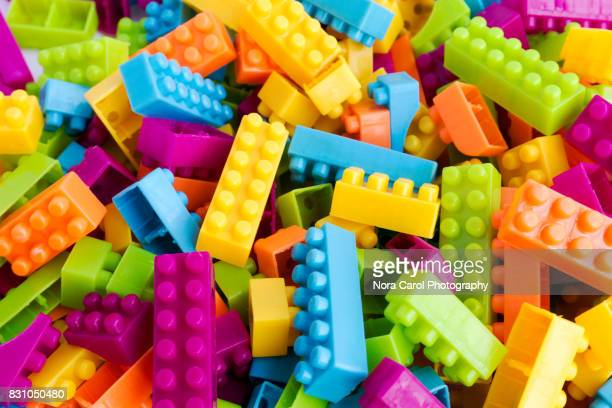 Overhead Photo of Colorful Building Blocks