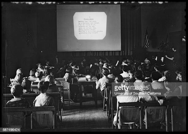 Overhead Projector in Classroom 1931