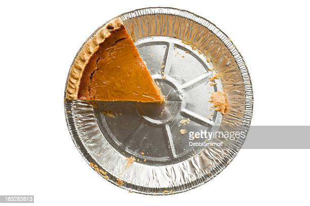 Overhead Pumpkin Pie One Piece Left Isolated