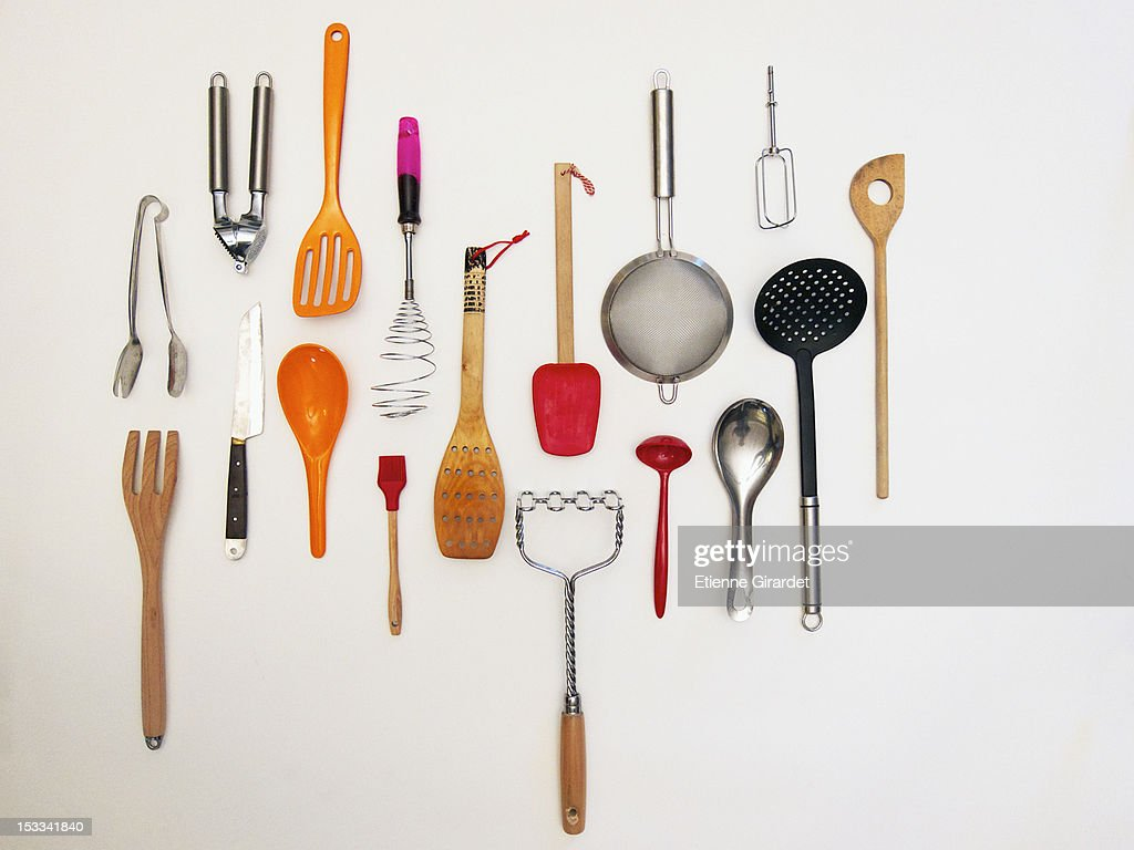kitchen utensils images. Simple Images Overhead Shot Of Kitchen Utensils Which Appear To Be Hanging Throughout Kitchen Utensils Images