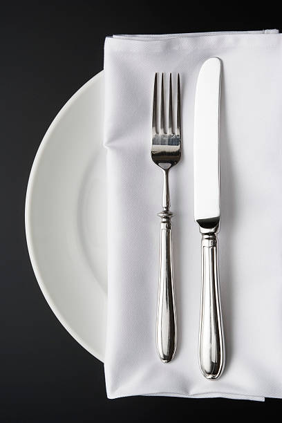 Place Setting with White Napkin