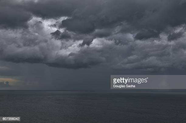 Overhead storm brings dark skies