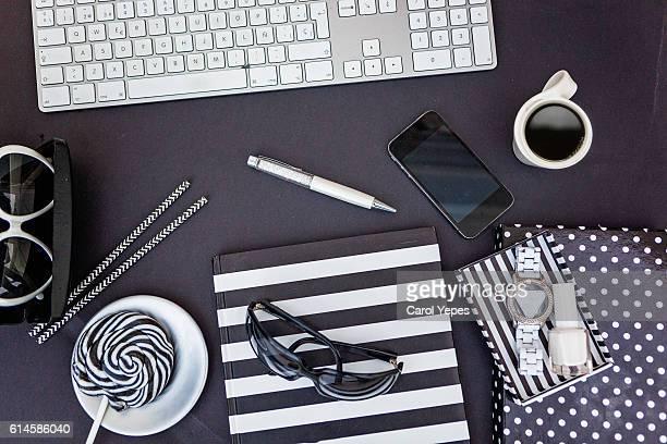 overhead studio desk