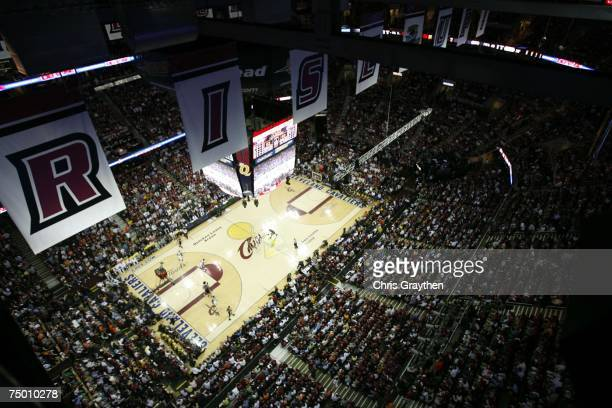 Overhead view in Game Four of the NBA Finals between the Cleveland Cavaliers and the San Antonio Spurs at the Quicken Loans Arena on June 14 2007 in...