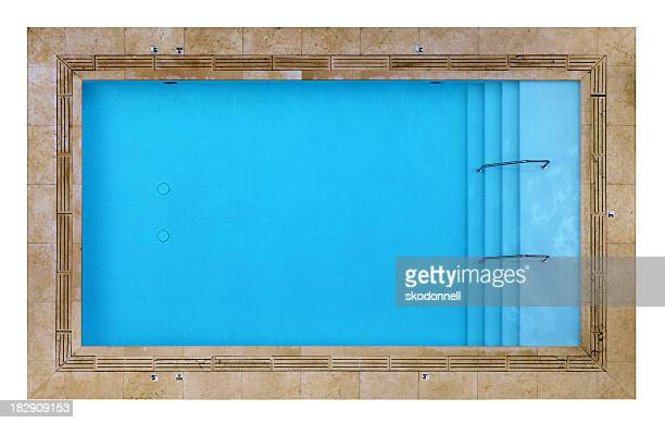 Overhead View of a Swimming Pool Isolated on White