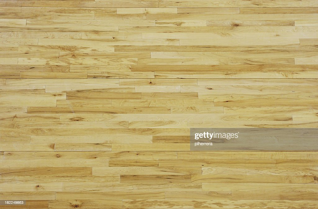 Overhead View of a Wooden Basketball Floor : Stock Photo