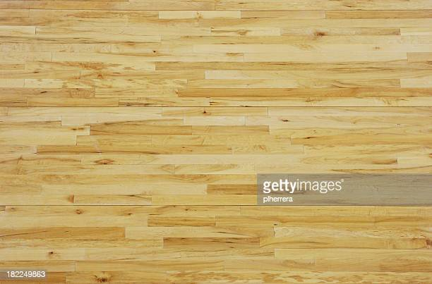 overhead view of a wooden basketball floor - wooden floor stock pictures, royalty-free photos & images