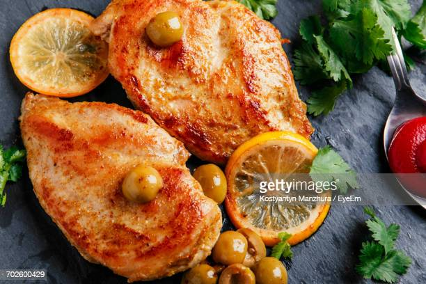Overhead View Of Chicken Breast
