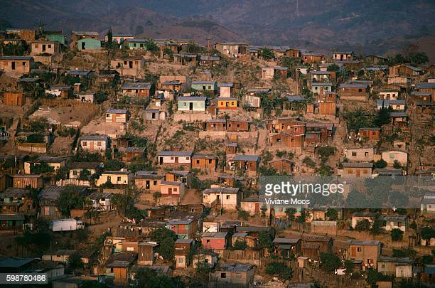 Overhead view of city of Tegucigalpa