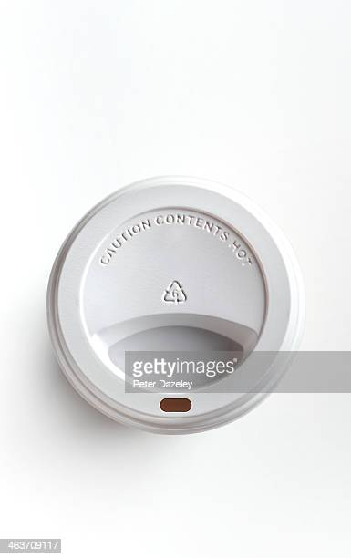 overhead view of coffee cup - single use stock pictures, royalty-free photos & images