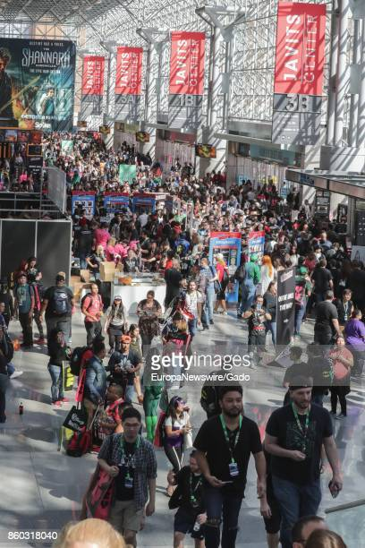 Overhead view of crowd at New York Comic Con at the Javits Convention Center New York City New York October 5 2017