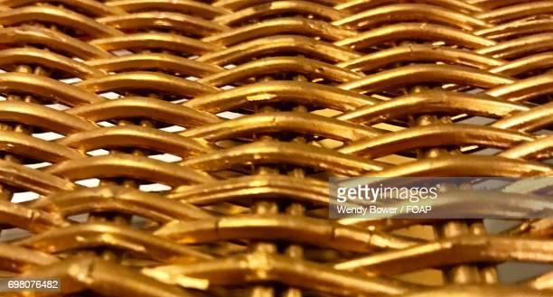 Overhead view of gold metallic