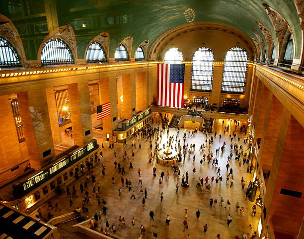 Overhead view of Grand Central Station.