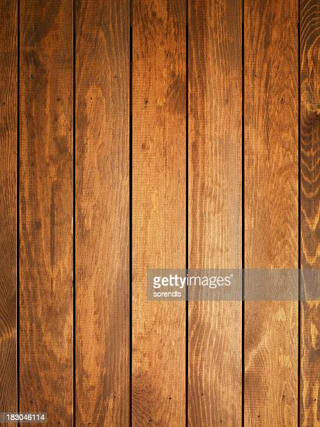 Visão geral de castanho claro mesa de madeira