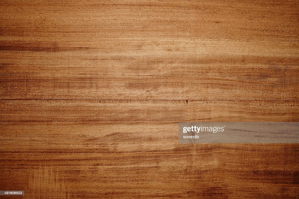 Overhead view of light brown wooden table : Stock Photo