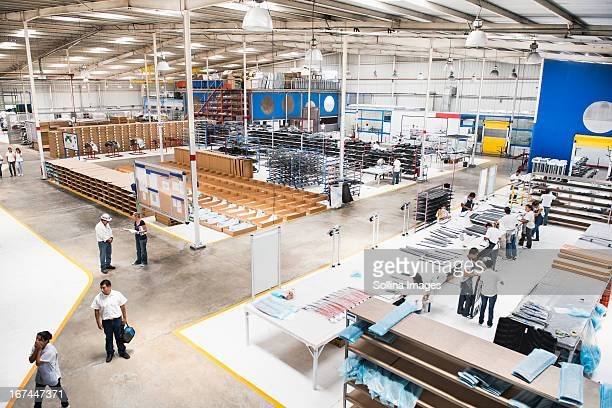 Overhead view of manufacturing plant