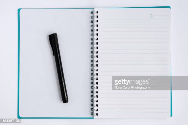 Overhead View of Note Pad and Pen