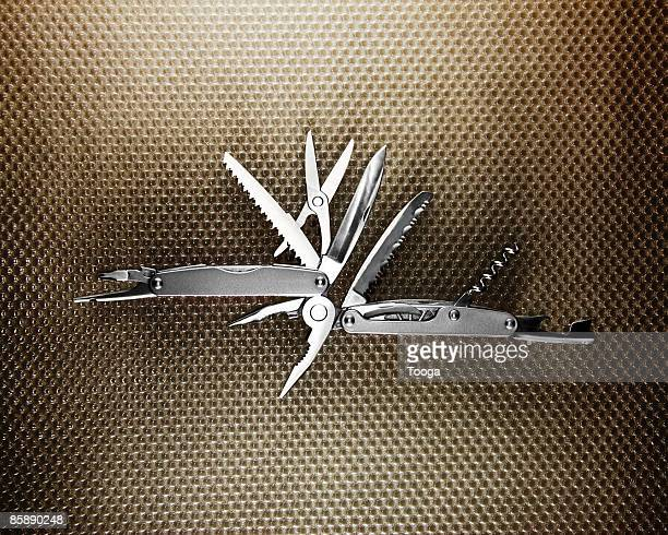 Overhead view of pocket knife tool