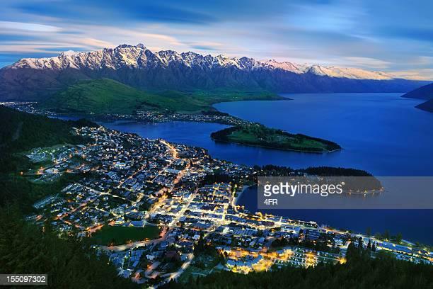 Blickwinkel von Queenstown und The Remarkables, Neuseeland (XXXL