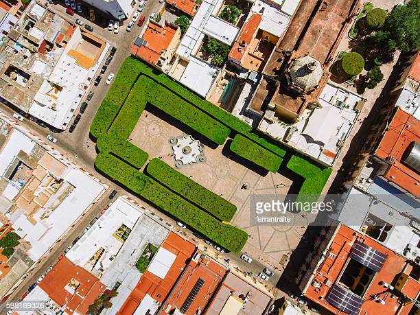 overhead view of santiago de queretaro mexico - queretaro state stock pictures, royalty-free photos & images