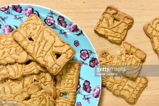 Overhead view of Spekulatius spiced biscuits