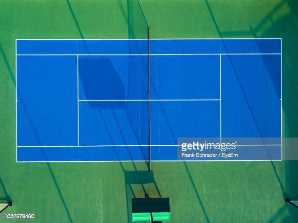 Overhead View Of Tennis Court
