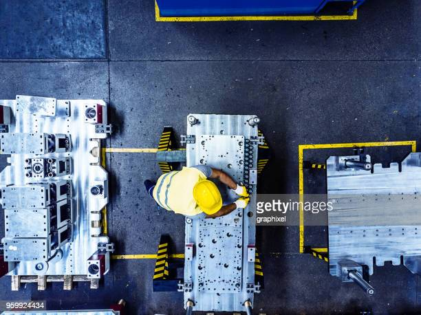 Overhead View of Worker