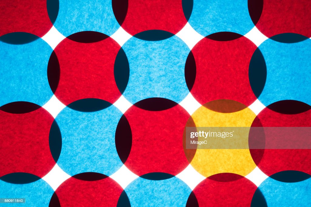 Overlapping Circle Paper Pattern : Stock Photo