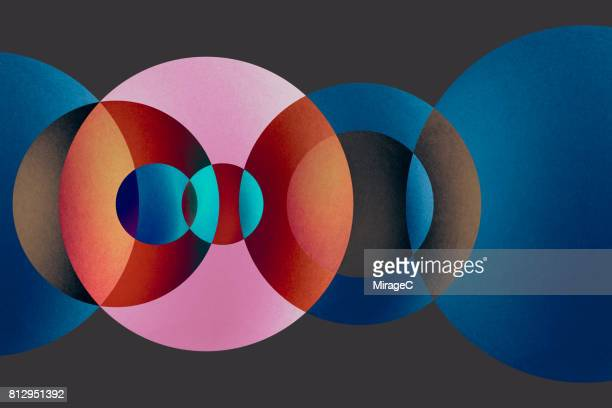 Overlapping Multi-colored Circles