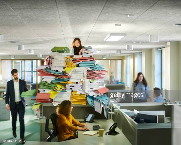 overload at the office - stack stock pictures, royalty-free photos & images